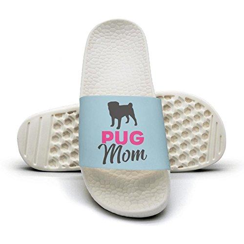 - Pug Mom Pug Dog Slippers Sandals Slippers for women