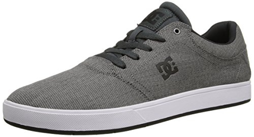DC Men's Crisis TX SE Skate Shoe, Grey/White, 8 D US