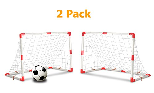 fan products of Set of 2 Junior Soccer Goals for Kids (4x3-Feet)