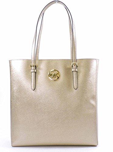 Michael Kors Jet Set Saffiano Leather Tote Pale - Mk Rose Bag Gold
