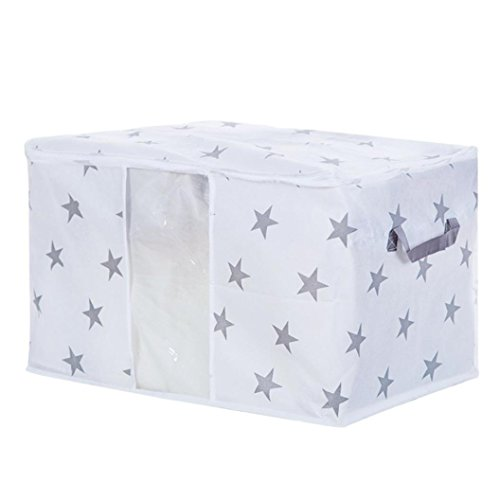 Storage Bins,IEason Foldable Storage Bag Clothes Blanket Quilt Closet Sweater Organizer Box Pouches (D)
