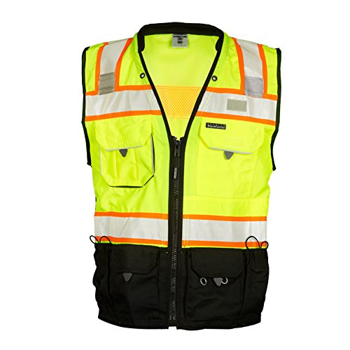 ML Kishigo S5002 Premium Black Series Surveyors Vest Small Lime