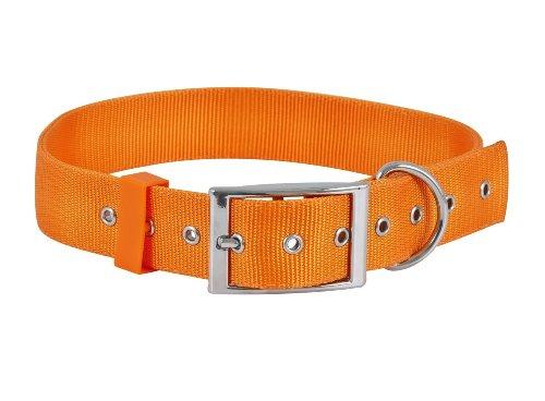 Ruff Maxx 10811 2-Ply Nylon Dog Collar, Orange