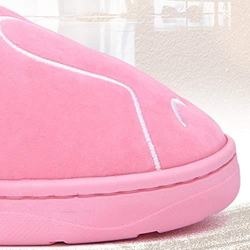 Laine Belle couleur De Light 38 Hiver Fond Et Td Polaire Pink Pantoufles Pink Au En Chaud Automne Taille Intérieur dérapant Garder 37 Dessinée Anti Coton Doux Bande U5R57pwq