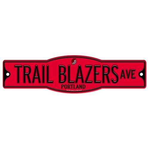Portland Trailblazers Blazers 4'' x 17'' Plastic Street Sign NBA by WinCraft