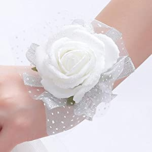 One One Bridal Wedding Bridal Women Girl Bridesmaid Exquisite Floral Hand Wrist Flower 1