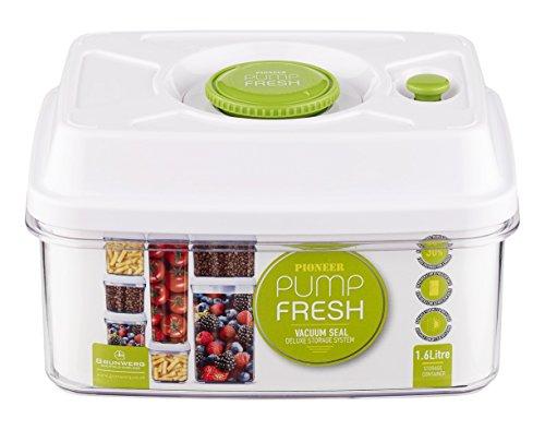 Charmant Pioneer Pump Fresh Pump Action Vacuum Seal Food Storage Tupperware Box,  1600ml, Black: Amazon.co.uk: Kitchen U0026 Home