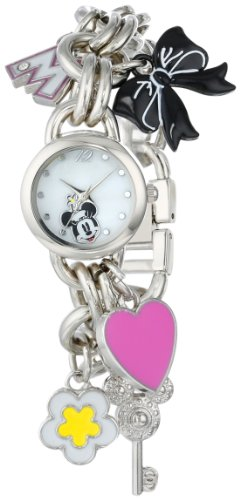 - Disney Women's MN2012 Minnie Mouse Mother-of-Pearl Dial Charm Watch