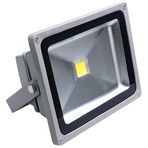 Auralum® 50W Super Hell 230V IP65 Wasserdicht Grau Kaltweiß LED Außenstrahler Fluter Flutlicht