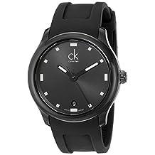 Calvin Klein Men's K2V214D1 Visible Analog Display Swiss Quartz Black Watch