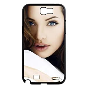 Angelina Jolie Custom 2D Phone Case for Samsung Galaxy Note 2 N7100 at DLLPhoneCase ( DLL478035 )