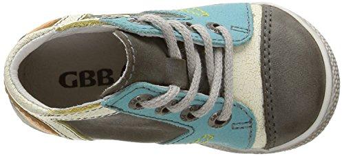 GBB Montgomery - Zapatos de primeros pasos Bebé-Niñas Multicolor - Multicolore (11 Vtc Gris/Turquoise Dpf/Milk)