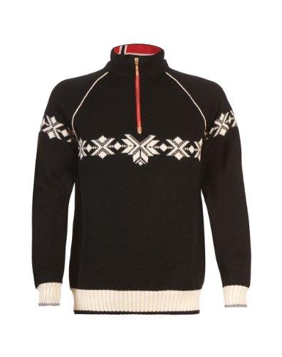 Dale of Norway Men's Sochi Sweater, Black/Off White/Cobalt, XX-Large