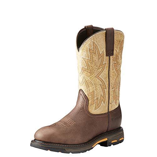 ARIAT Work Men's Workhog Raptor Construction Boot, Dark Chocolate/Crazy Tan, 8.5 E US