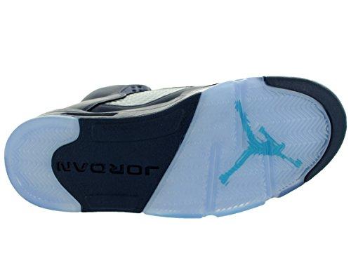 Nike Jordan Herren Air Jordan 5 Retro Basketballschuh Mitternachts Marine / Trqs Blau / Weiß