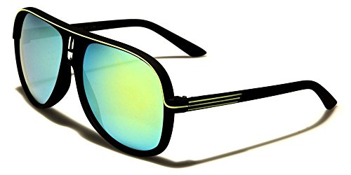 Black Lime Accents Soft-Feel Matte Frame Aviator Men Women - Frames Costa Optical