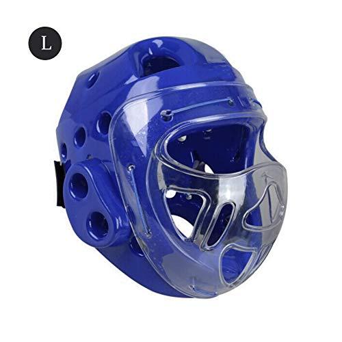 IMSHI Taekwondo Headgear Protective Headgear Full Head Guard Boxing Headgear with Face Shield - Taekwondo Head Mask Karate Head Boxing Sanda Mask Helmet for Adult/Children