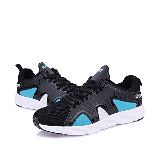 de Zapatillas Hombre para Negro de shoes Shufang Azul Papel Running naRBqx