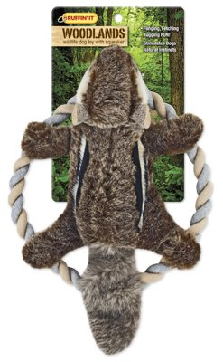 (Westminster Pet Products 16269 Woodlands Plush Chipmunk Rope Ring Tosser Dog Toy)