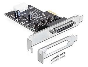 DeLOCK 89306 Interno De serie tarjeta y adaptador de interfaz - Accesorio (PCIe, De serie, RS-232, Oxford OXPCIe954, 0,0002197 Gbit/s, Negro, Color blanco)