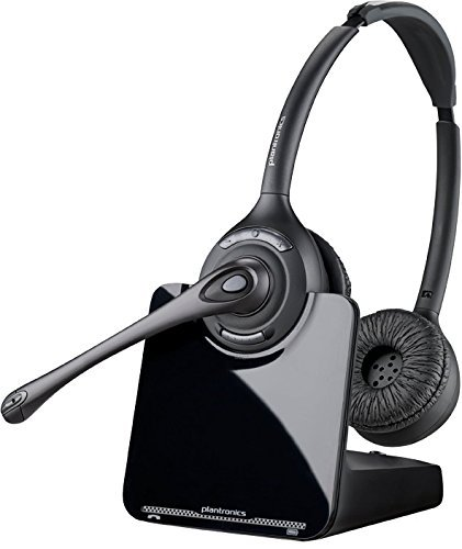 One Touch Answer Button - Plantronics CS520 Binaural Wireless Headset System