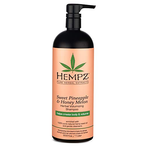 Hempz Sweet Pineapple and Honey Melon Herbal Volumizing Shampoo, 33.8 oz. – Natural Thickening and Repair Product for…