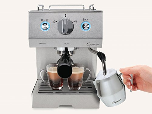 capresso cafe pro espresso maker silver gourmet. Black Bedroom Furniture Sets. Home Design Ideas