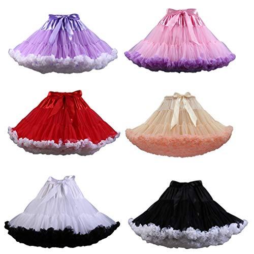 Tulle Ballet Tutu Jupon YAANCUNN Comme en 4 Couleurs Image Court Jupe Femme Pettiskirt Varies Tutu Ballet qwY1Xz