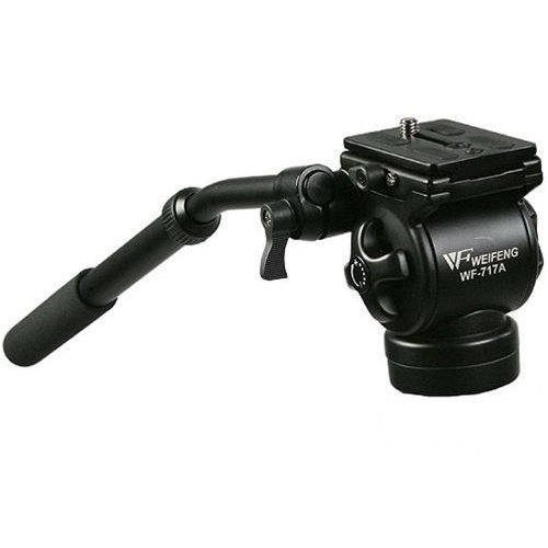 CowboyStudio EI717A Professional Video Camera Fluid Drag Tripod Head and Handle