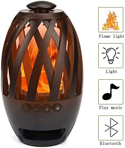 ZhengRun LED Flame Wireless Bluetooth Speaker,Outdoor Flame Bluetooth Speakers,Torch Atmosphere Bluetooth Speakers,Outdoor Portable Stereo Speaker With HD Audio And Enhanced Bass for iPhone Android