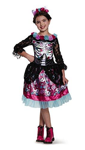 Disguise Dia De Los Muertos Hello Kitty Sanrio Costume, Large/10-12 (Dia Del Los Muertos Costume)