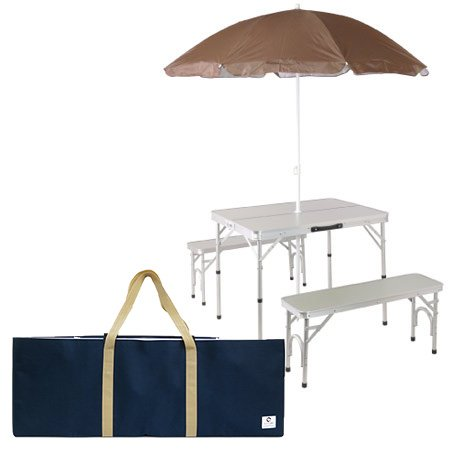 おすすめガーデンパラソル10選 ガーデンパラソル  折りたたみテーブル・チェア付 ALPT-90P