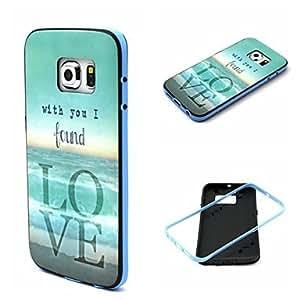 YULIN Teléfono Móvil Samsung - Cobertor Posterior - Gráfico/Dibujos Animados/Diseño Especial - para Samsung Samsung Galaxy S6 edge (