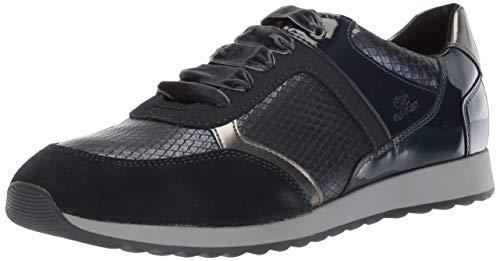 - Geox Women's Deynna 6 Snake Print Fashion Sneaker, Navy, 39 Medium EU (9 US)