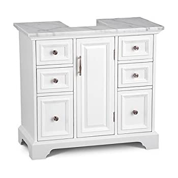 DermaPad Pedestal Sink Cabinet with Marble Top - Arrives Fully Assembled  sc 1 st  Amazon.com & DermaPad Pedestal Sink Cabinet with Marble Top - Arrives Fully ...