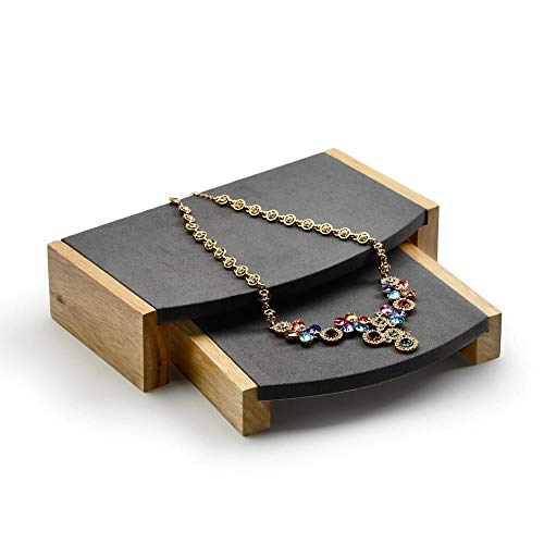 Oirlv Wood Jewelry Display Stand Showcase/Trade Show Necklace Bracelet Holder ()