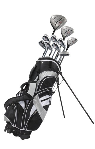 Precise GT-R Men's Tall Complete Set (Right Hand, Black/Silver, +1-inch), Outdoor Stuffs
