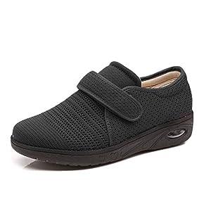 Women Edema Shoes Adjustable Air Cushion Sneakers Elderly Walking Shoes for Diabetic Arthritis Swollen Footwear 39