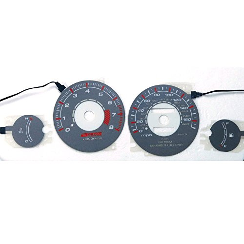 (BAR Autotech  Indiglo Glow Gauge car EL Panel Gray face for Mitsubishi Eclipse Non Turbo 95-99)