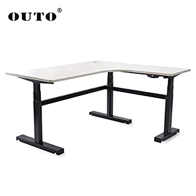 R02OUTO The l-Shaped Wireless Remote Control Electric Lifting Desk Standing Desk Memory Desk Learning to Write