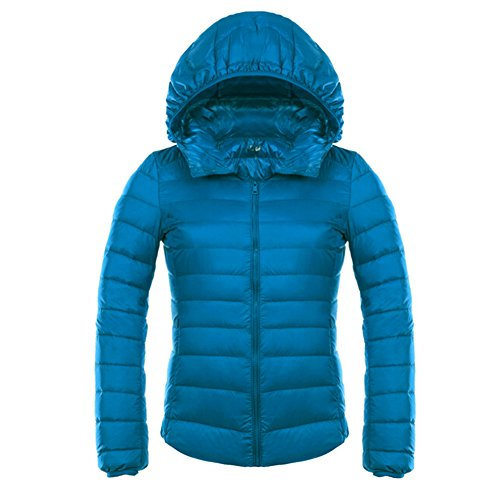 Capispalla 3xl Colori Transizione Blu Piumino Di Giacche S Cappotto 12 Cappotti Calde Leggeri Kootk Cappuccio Anatra Wintercoat Con Bianco Donne IZvwqTI