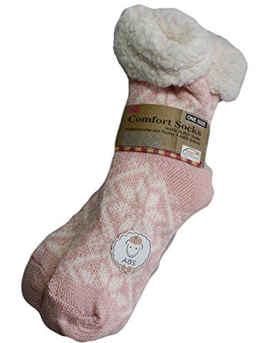 Susis Fashion Shop® - Zapatillas de estar por casa de Poliacrílico para mujer 37/40 Rosa