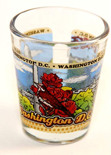 Washington D.C. Wraparound Shot Glass (Best Souvenirs From Dc)