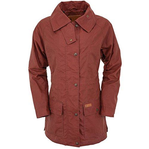 Outback Trading Co Women's Rust Copper Belfast Jacket Rust Copper - Microsuede Jacket Lined