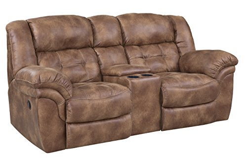 ComfortMax Furniture 1292915 Metcalfe 129 Power Reclining Console Loveseat