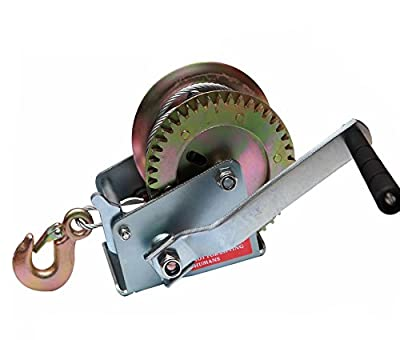 BOAR Heavy Duty Single-Speed Hand Crank Winch Cable (1200lb)