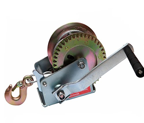 uty 2-Speed Hand Crank Winch Cable-1200lb ()