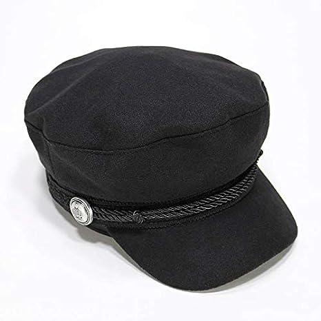 Yukun berretto Cappello da Marinaio Donna Autunno E Inverno Berretto Nero  Retro Ottagonale Autunno Anatra Lingua e562afca1f0f