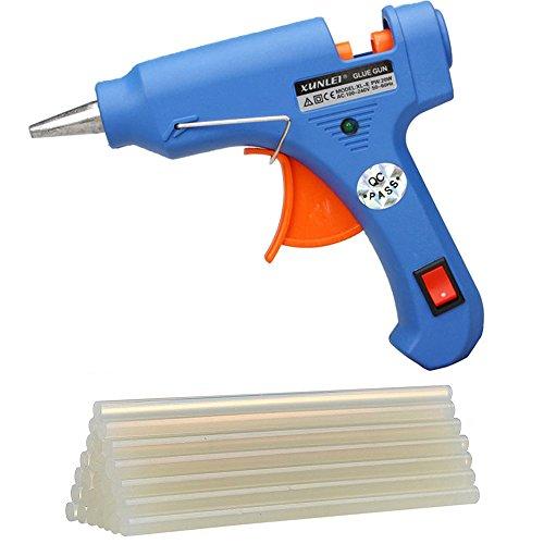Hong 111 Mini Hot Glue Gun With 30Pcs Melt Glue Sticks For Diy Craft And Quick Repairs Kit 20 Watt Blue
