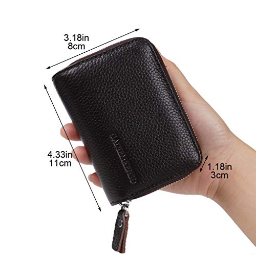 Wallet Mens Black Lady Cash Travel Id Zipper Credit Purse Unisex Coin With Coffee Women Case Nycoodny Pocket Card For Holder Leather xZwqn6aTH0